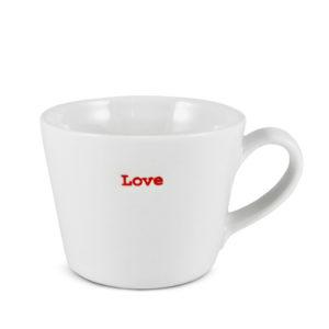 """White Espresso Cup   """"Love"""""""