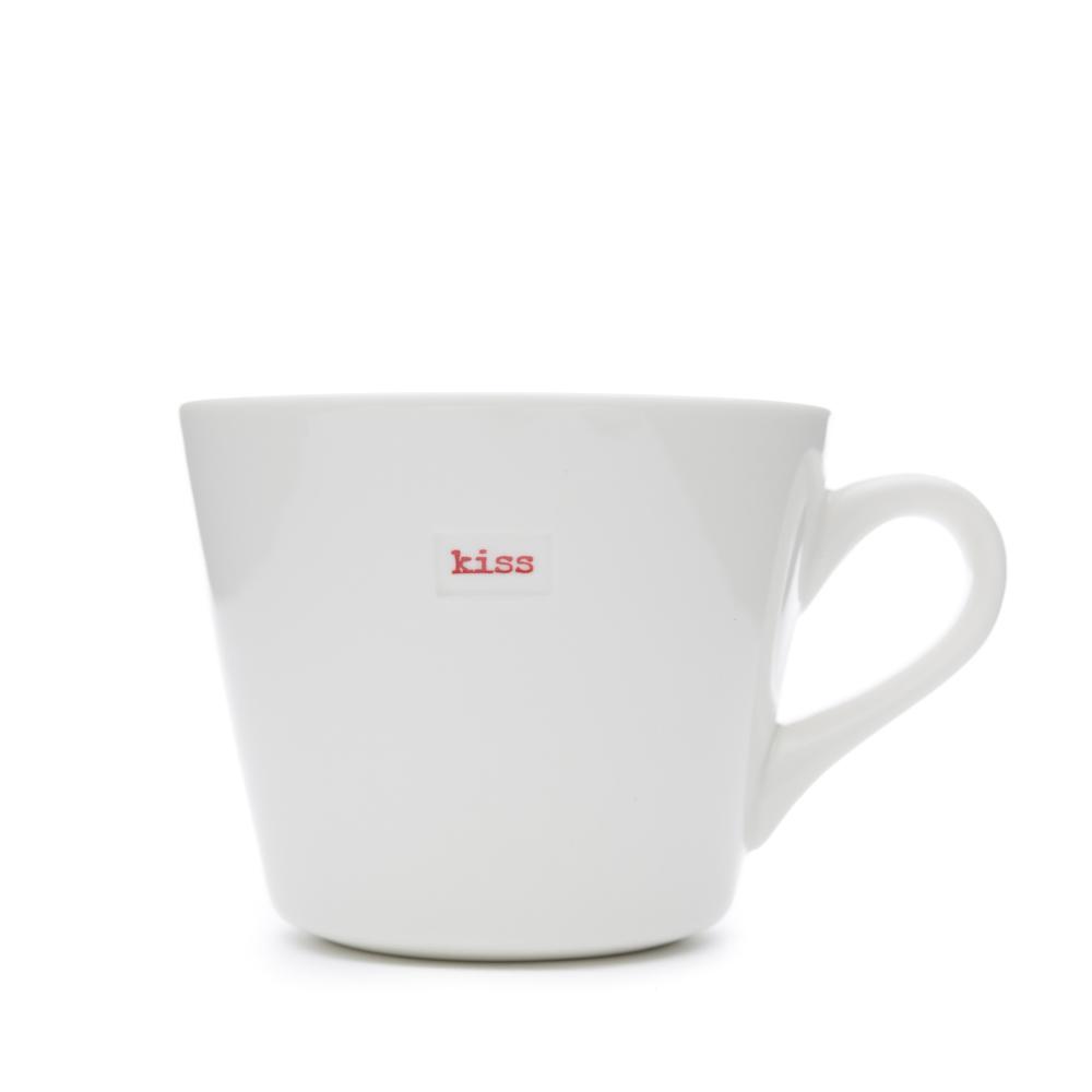 """White Bucket Mug """"relax!"""" 350Ml"""