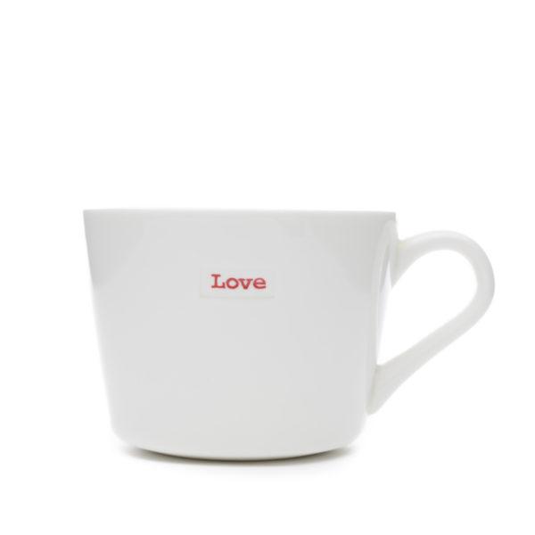 "Mini Bucket Mug ""love"" 280ml"
