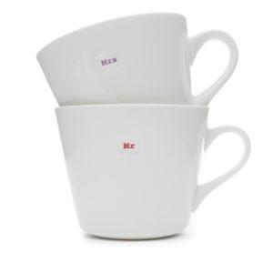 Standard Bucket Mug Pair 350Ml - Mr Mrs