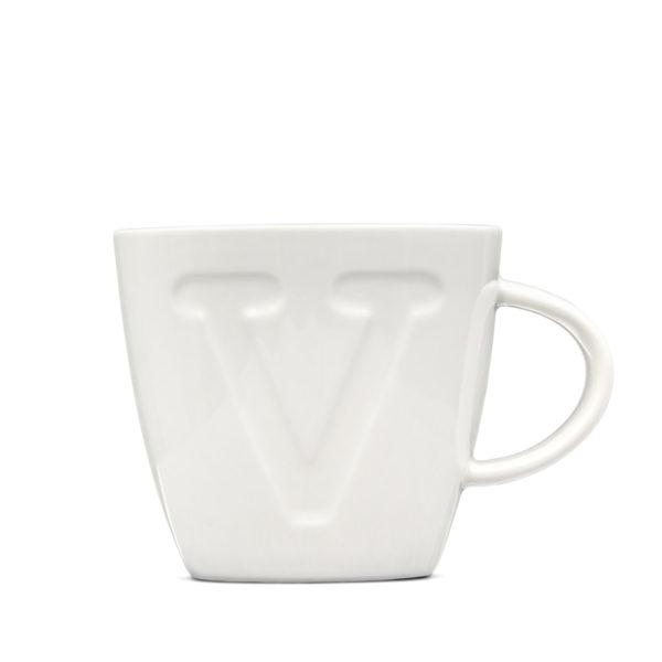 """Alphabet Mugs """"V"""" 380ml"""