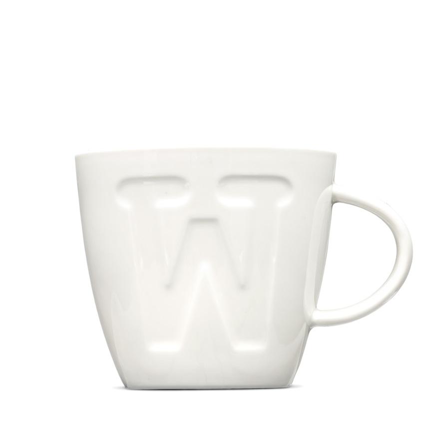 "Alphabet Mugs ""W"" 380ml"