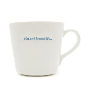 "White Bucket Mug ""Gin!"" 350ml"