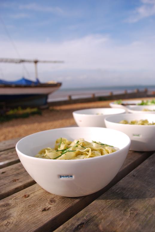 Large White Pasta Bowl - Pasta