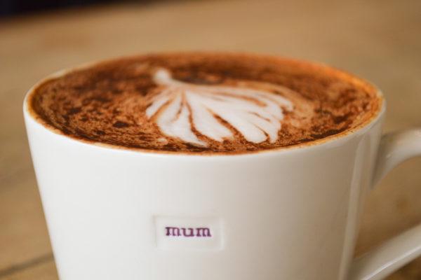 """White Bucket Mug """"mum"""" 350ml"""