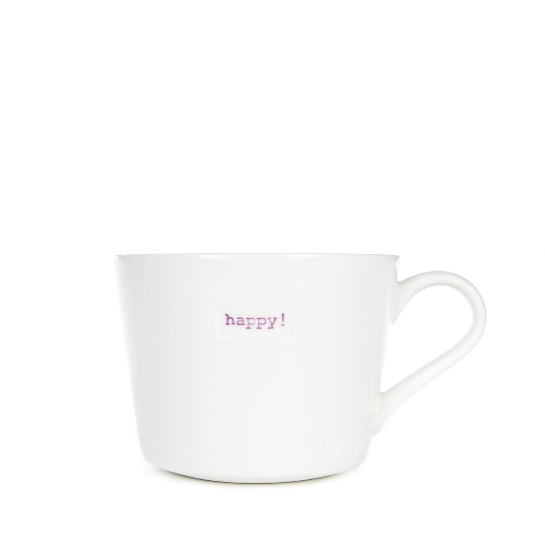 Mini Bucket Mug 280ml - happy!
