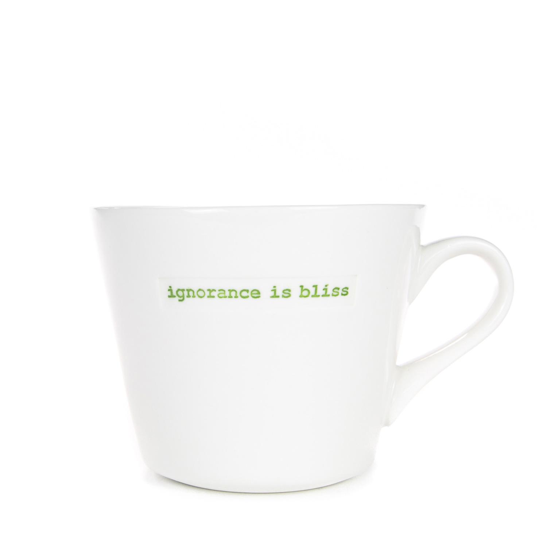 Standard Bucket Mug 350ml - ignorance is bliss