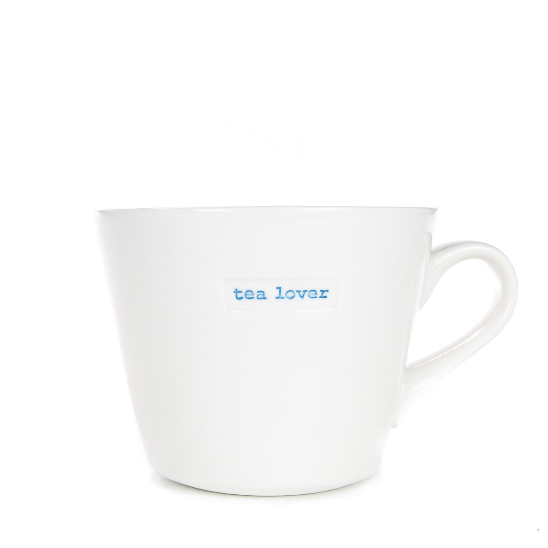 Standard Bucket Mug 350ml - tea lover