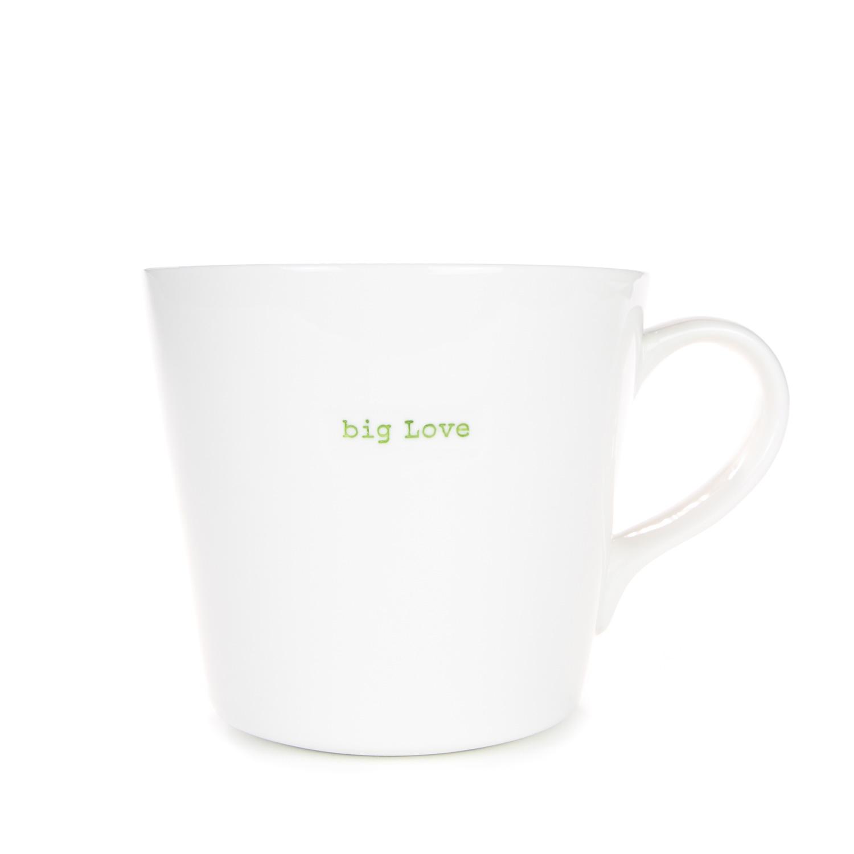 Large Bucket Mug 500ml - big Love (green)