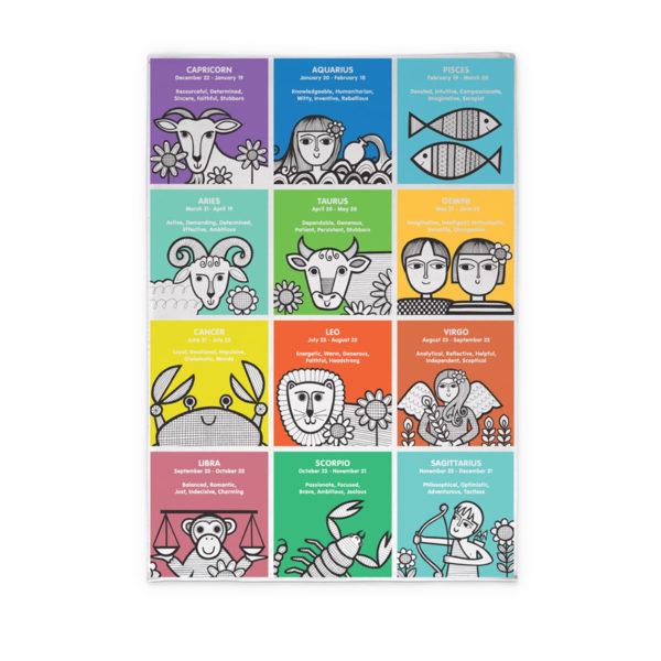 Jane Foster Zodiac Tea Towel