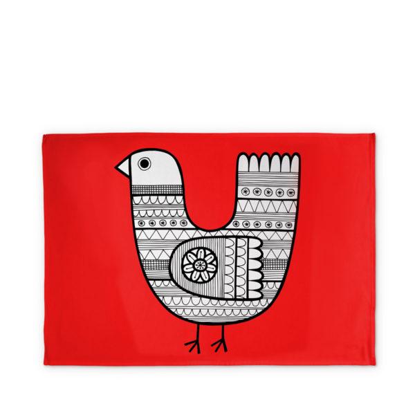 Jane Foster Tea Towel - Scandi Linea - Chicken