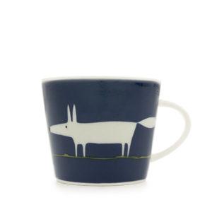 Scion Mr Fox Mug 350Ml - Indigo