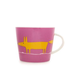Scion Mr Fox Mug 350Ml - Pink & Orange