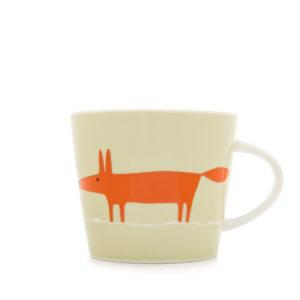Scion Mr Fox Mug 350Ml - Neutral & Orange