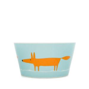 Scion Mr Fox Bowl - Duckegg & Orange