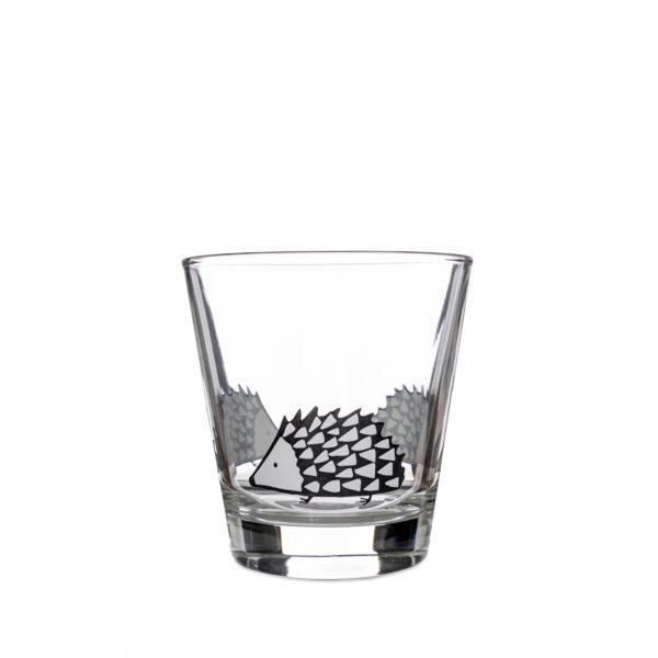 Scion Spike Hedgehog Glass Tumbler - Grey