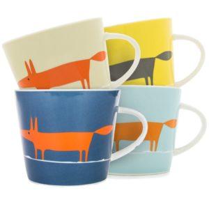 Scion Mr Fox Mug 350ml   Set of 4