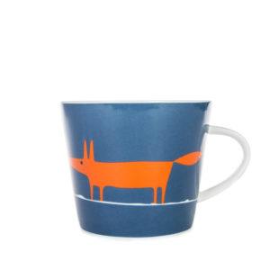 Scion Mr Fox Mug 350ml | Denim & Orange