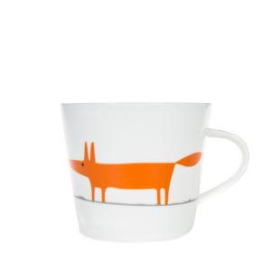 Scion Mr Fox Mug 350ml   Ceramic & Orange