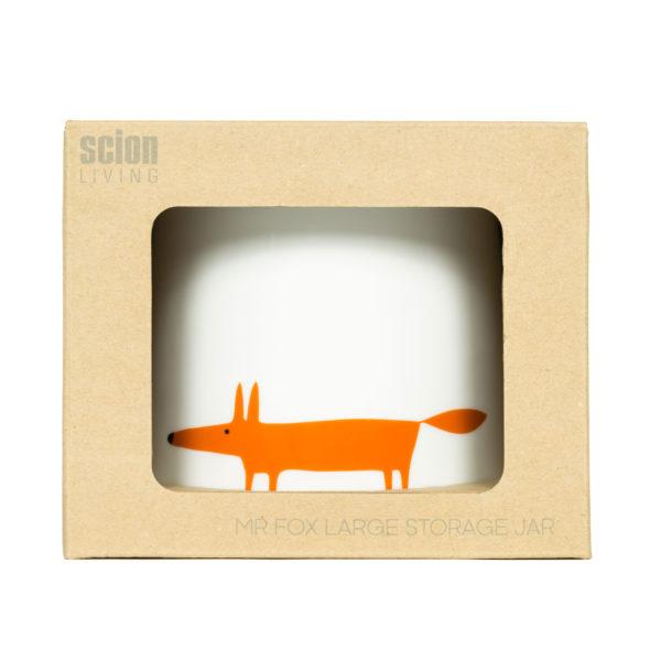 Mr Fox Storage Jar | Large | Ceramic & Orange
