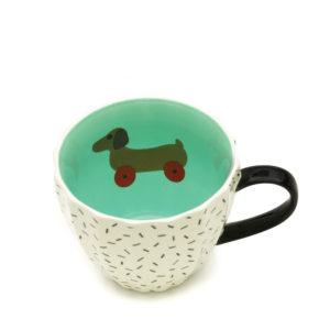 Tatty Devine Mug | Dog on Wheels (gift boxed)