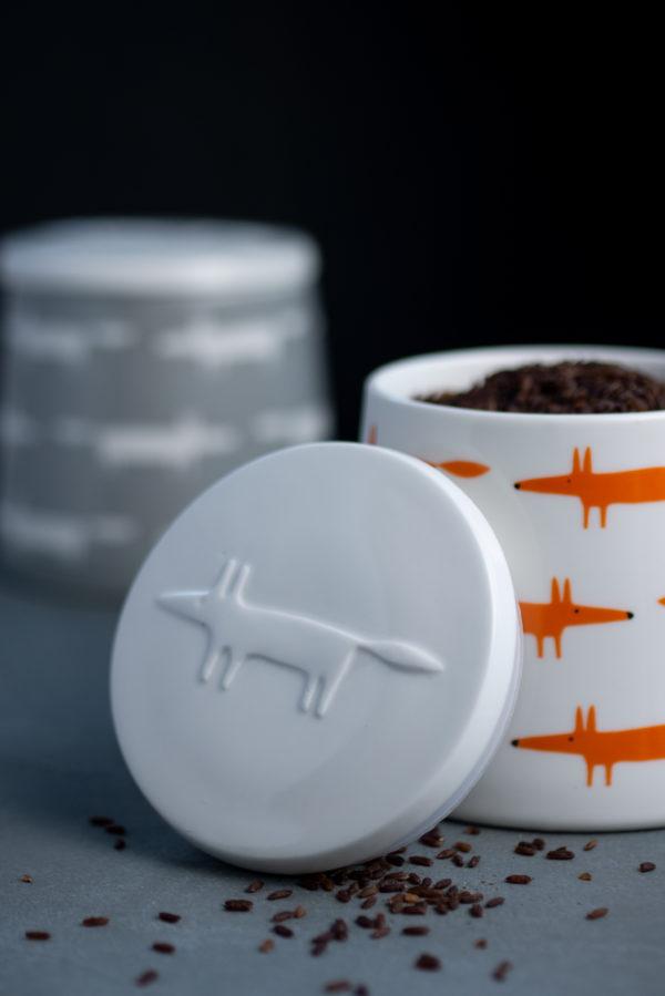 Mr Fox Storage Jar | Small | Ceramic & Orange Multi