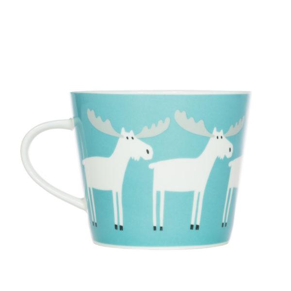 Standard Mug 350ml - Marty Moose - Aqua & Frost