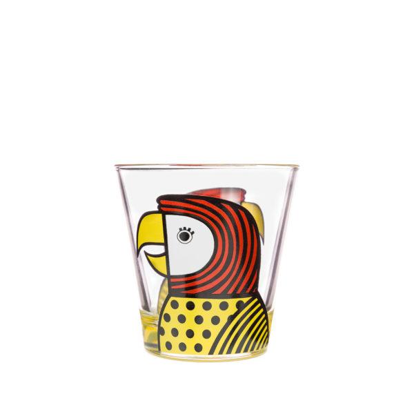 Jane Foster Pets Design Glass Tumbler Parrot