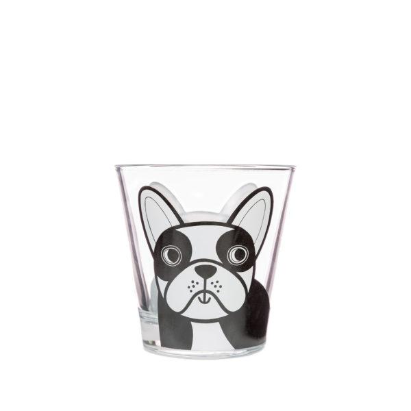 Jane Foster Design Glass Tumbler French Bulldog